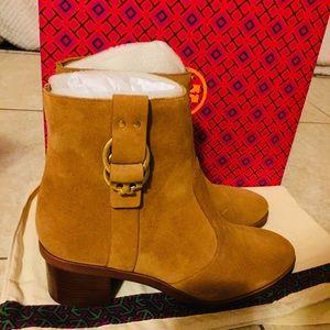 13a9174f4c8 Tory Burch Shoes - NEW Tory Burch Marsden Suede Booties Tan Size 7.5